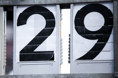 Two digit numbers Royalty Free Stock Photo