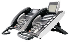 Two digital telephone sets Royalty Free Stock Photography