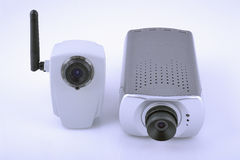 Two digital video cameras Stock Images