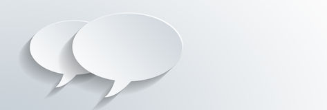 Two dimensional speech bubbles with shadows Stock Image