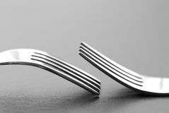 Two dining forks Royalty Free Stock Photography