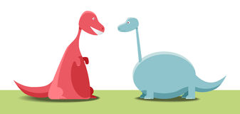 Two dinosaurs Royalty Free Stock Photo