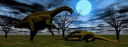Two dinosaurs Stock Photos