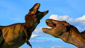 Two dinosaurs Stock Photos