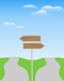 Two direction signpost Stock Photo