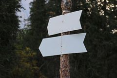 Two direction signs Royalty Free Stock Photo