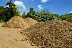 Two dirt piles Royalty Free Stock Image