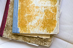 Two dirty old notebooks Royalty Free Stock Photo