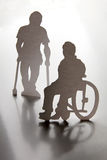 Two disabled men Royalty Free Stock Image