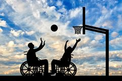 Concept of sports lifestyle people with disabilities stock image