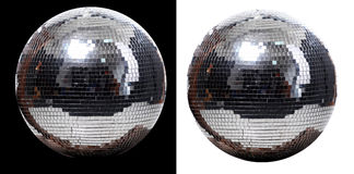Two disco ball. Picture of two disco ball at black and white  background Stock Photo