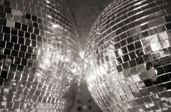 Two discoballs Royalty Free Stock Image