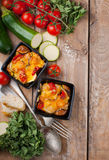 Two dishes of vegetable casserole Royalty Free Stock Photography