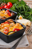Two dishes of vegetable casserole Stock Photography