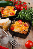 Two dishes of vegetable casserole Royalty Free Stock Image