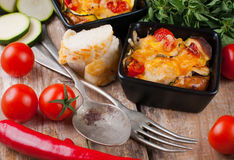 Two dishes of vegetable casserole Royalty Free Stock Photos