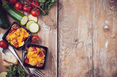 Two dishes of vegetable casserole Royalty Free Stock Photo