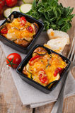 Two dishes of vegetable casserole Royalty Free Stock Images