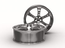 Two disk wheel on white background Royalty Free Stock Photography