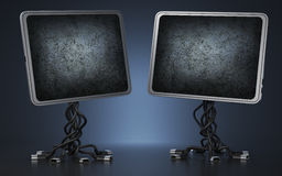 Two displays Stock Photography