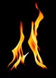 Two distinct flames reaching upward Stock Images