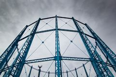 Gas towers. Two disused gas tower Royalty Free Stock Photography