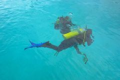 Two divers Royalty Free Stock Images