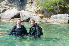 Two Divers Stock Photo
