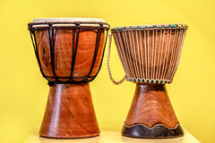 Two djembe drums Royalty Free Stock Photos