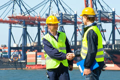 Two Dockers Royalty Free Stock Image