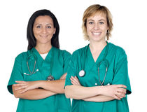 Two doctor women royalty free stock image
