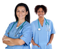 Two doctor women Royalty Free Stock Photography
