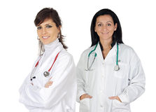 Two doctor women Stock Photo