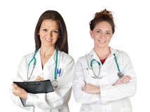 Two doctor women Stock Images