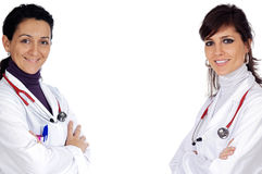 Two doctor women Royalty Free Stock Photo