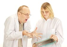 Two doctors arguing Royalty Free Stock Image