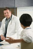 Two doctors chatting Stock Photography