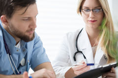 Two doctors consulting Stock Photography