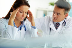 Two doctors Stock Photo