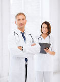 Two doctors in hospital Royalty Free Stock Images
