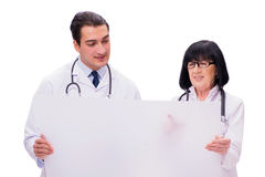 The two doctors isolated on the white background Royalty Free Stock Image