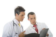 Consultating a Medical Case Royalty Free Stock Image