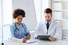 Two doctors meeting at hospital office Royalty Free Stock Photography