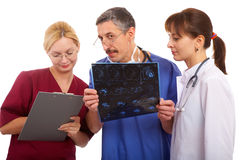 Two doctors and nurse Royalty Free Stock Photo