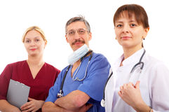 Two doctors and nurse Stock Image