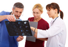 Two doctors and nurse Royalty Free Stock Image