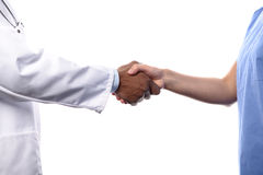 Two Doctors Shaking Hands Royalty Free Stock Photo