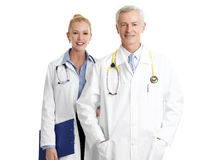 Two doctors with stethoscope Stock Images