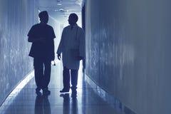 Doctors at corridor Stock Photo