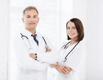 Free Two Doctors With Stethoscopes Stock Image - 40039981